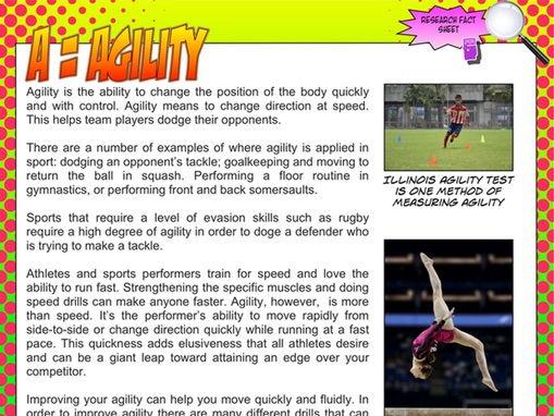 NEW GCSE PE - Agility research fact sheet