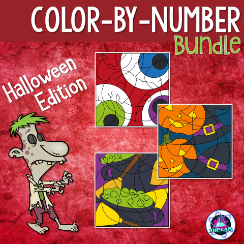 Science Colour-by-Number Activities (Halloween Edition)
