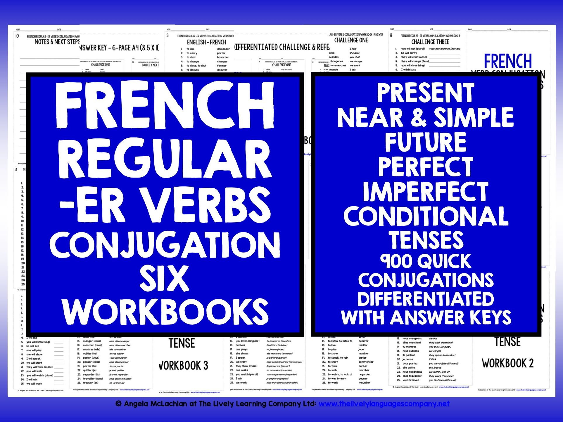 FRENCH -ER VERBS REVISION CONJUGATION