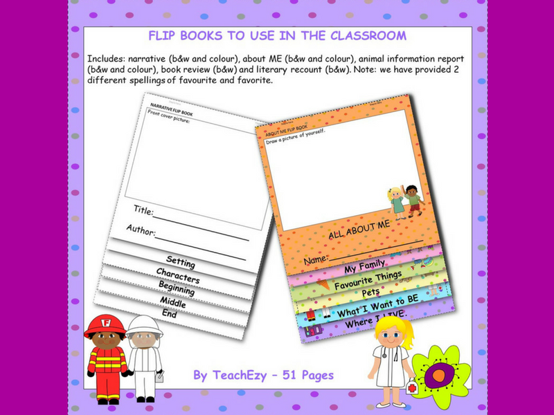 Flip Books for the Classroom