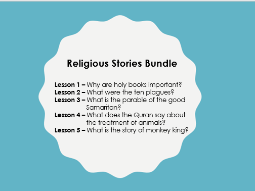 Scheme of Learning: Religious Stories