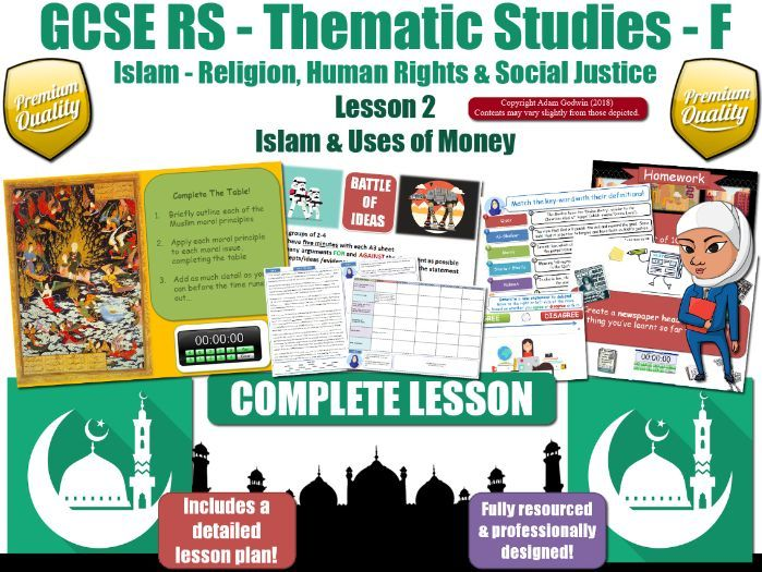 Uses of Wealth - Islamic Teachings & Muslim Views (GCSE RS - Islam - Social Justice) L2/7