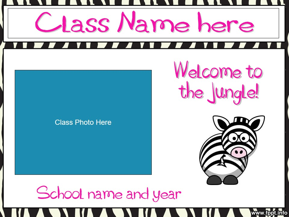 Back to School/Meet The Teacher/Open House Slideshow - Zebra Theme (suitable for UK and US)
