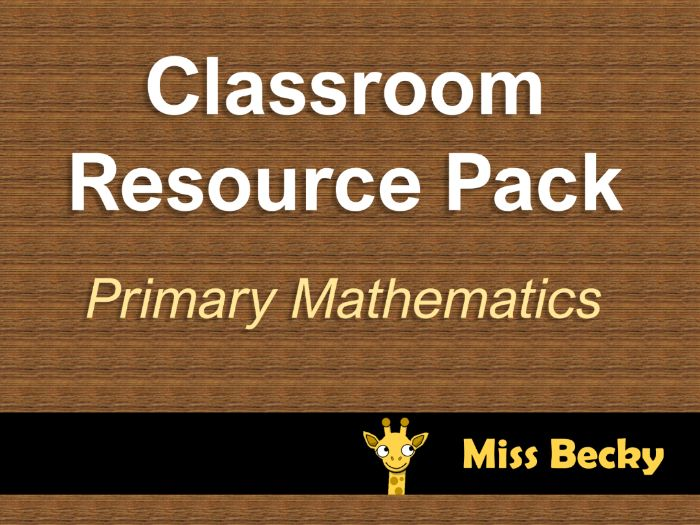 Primary Maths Classroom Resources Pack