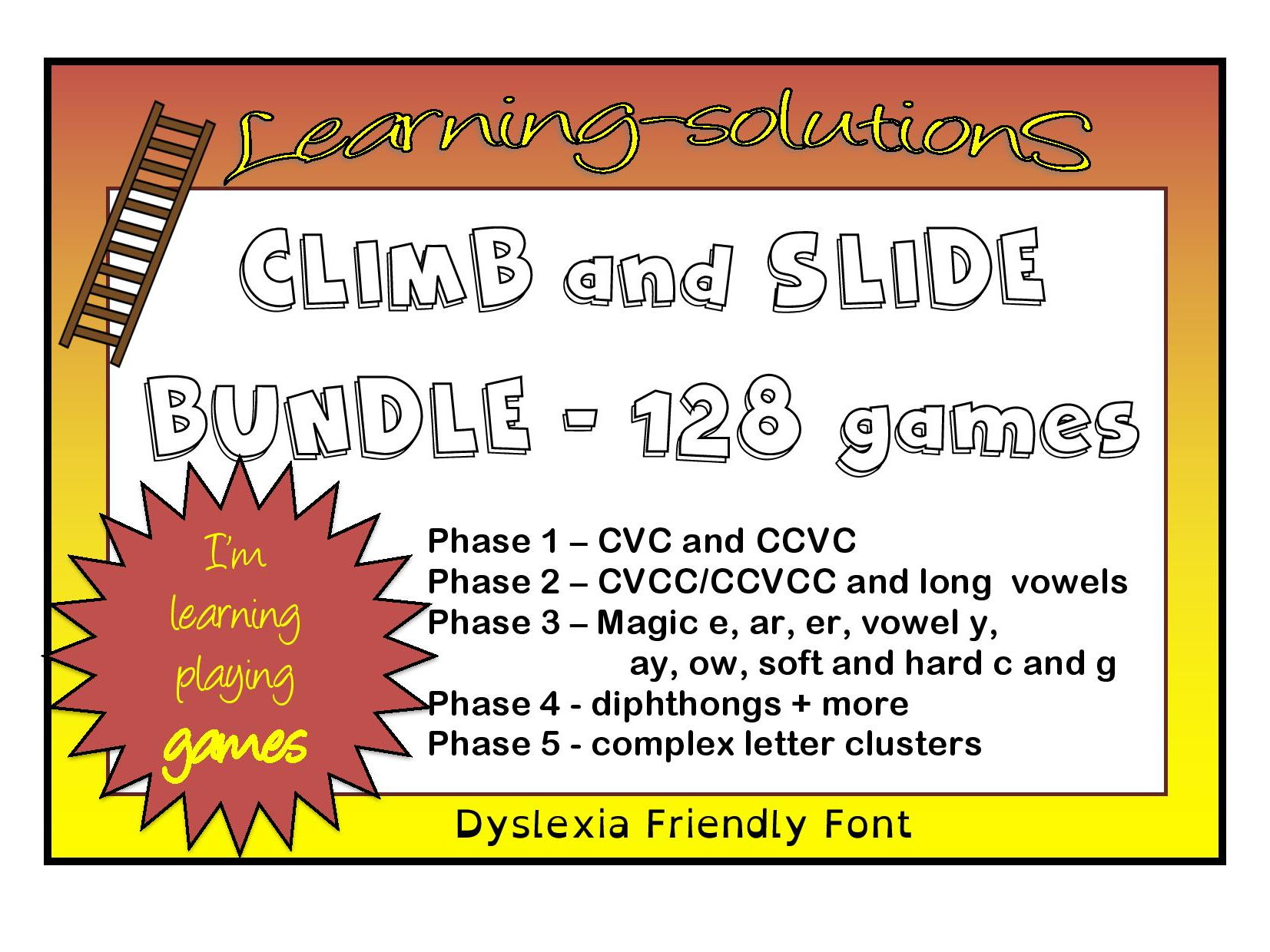 CLIMB and SLIDE BOARD GAMES BUNDLE - Phonics - Phases 1 to 5 - 128 games