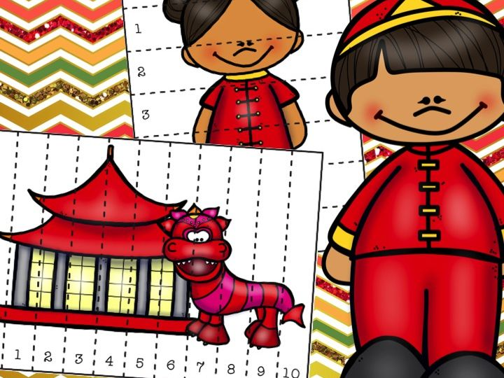 Chinese New Year Number Puzzles Counting to 10