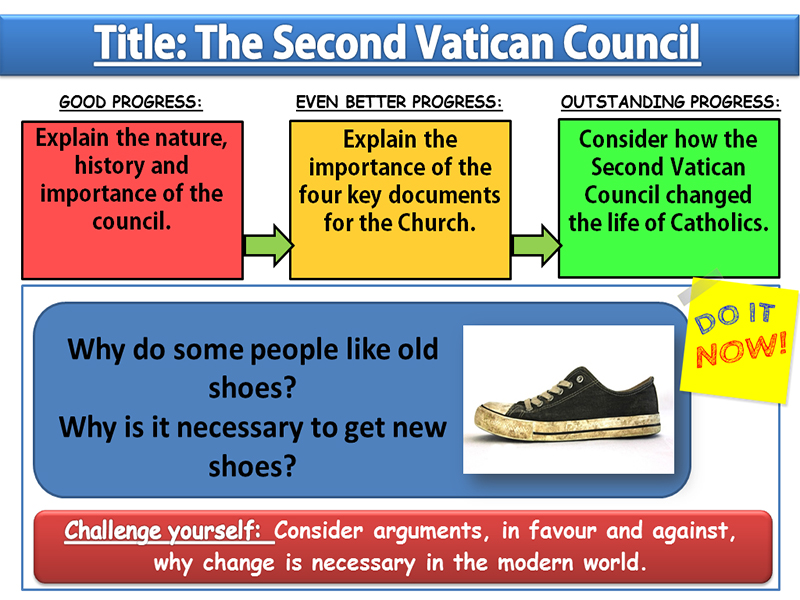 The Second Vatican Council: Lesson 4 - Sources of Wisdom and Authority