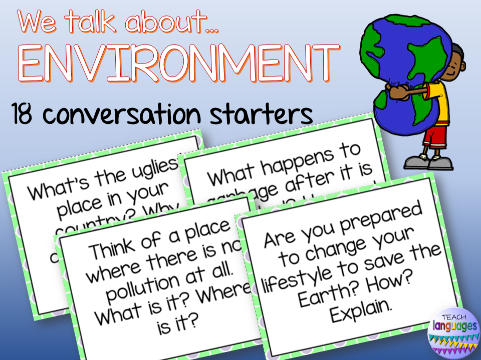 English- Conversation starters Environment