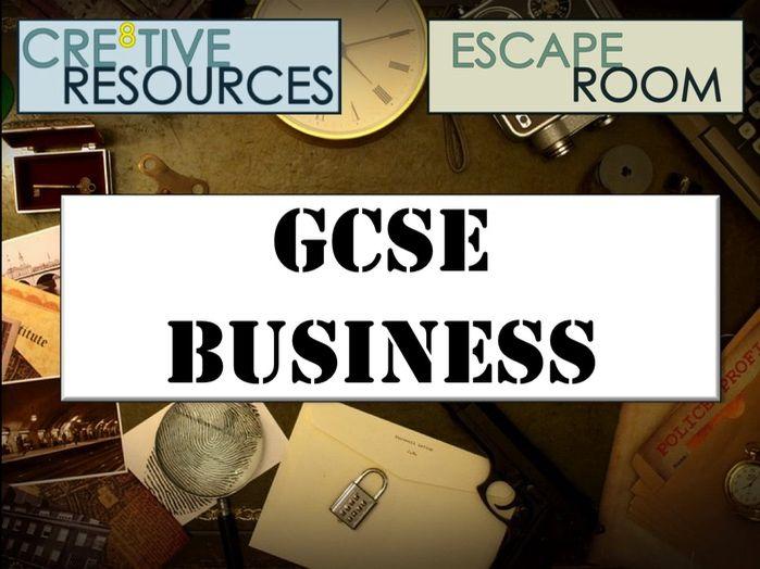 GCSE Business Escape Room