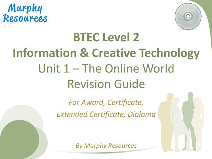 BTEC L2 Information & Creative Technology - Unit 1 (Free Sample)