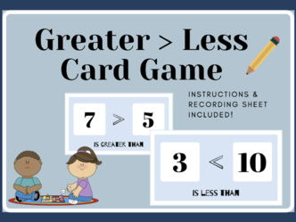 Greater Than, Less Than - Card Game