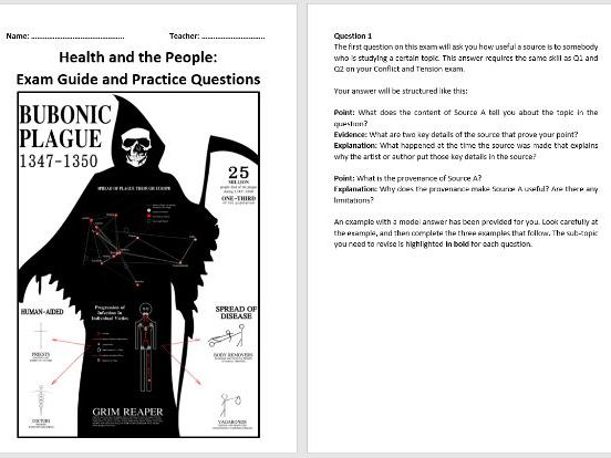 Health and the People Exam Guide and Practice Questions (AQA 9-1)