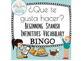 Get-to-know-you Spanish infinitives BINGO ¿Que te gusta hacer?
