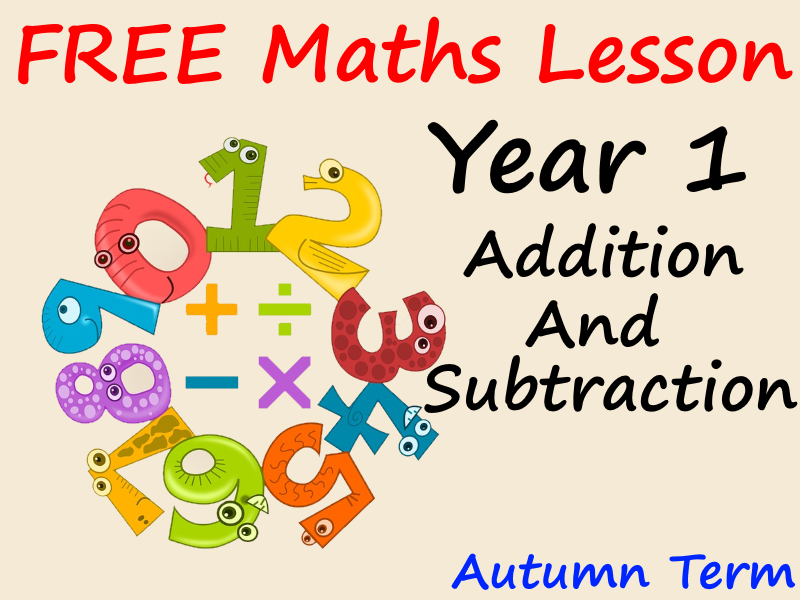 FREE Year 1 Maths PowerPoint Presentation - Addition and Subtraction - Autumn Term