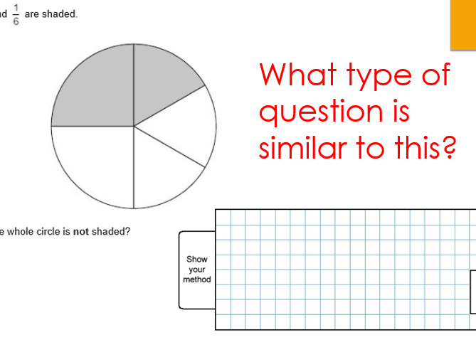 Year 6 - Revision of Fraction - 2 levels of differentiation - SATs type questions