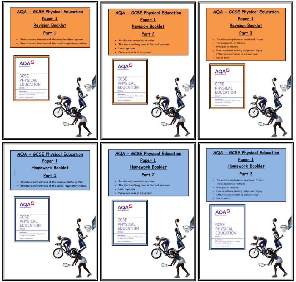 AQA - GCSE PE - Paper 1 - Complete Homework & Revision Booklets