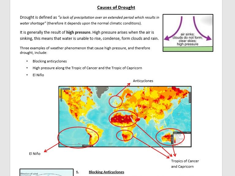 Causes of High Pressure - Information Sheet