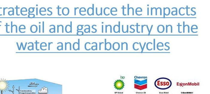 A Level; Arctic - Strategies to reduce the impacts of oil  production on the water and carbon cycles