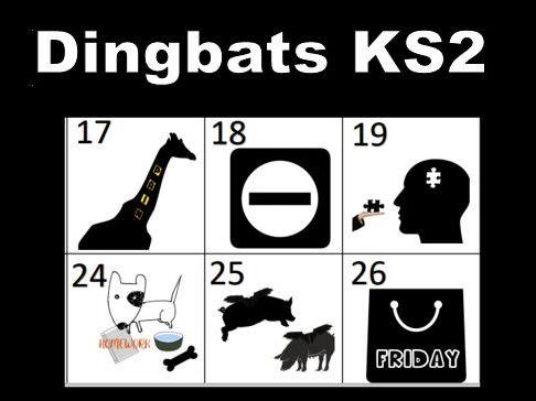 Dingbats Visual Word Puzzle Set 1 KS2