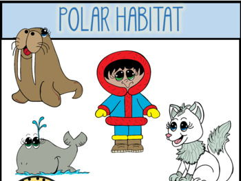 Polar Habitat Clip Art