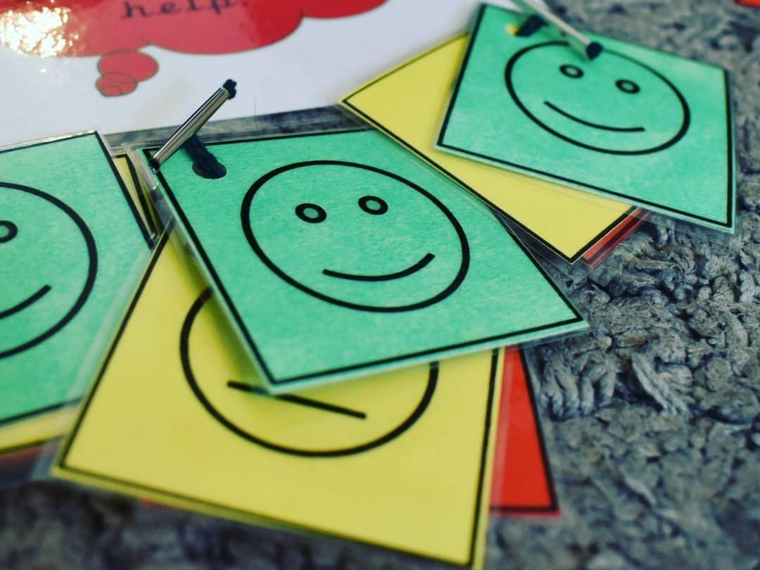 Self-assessment traffic light cards