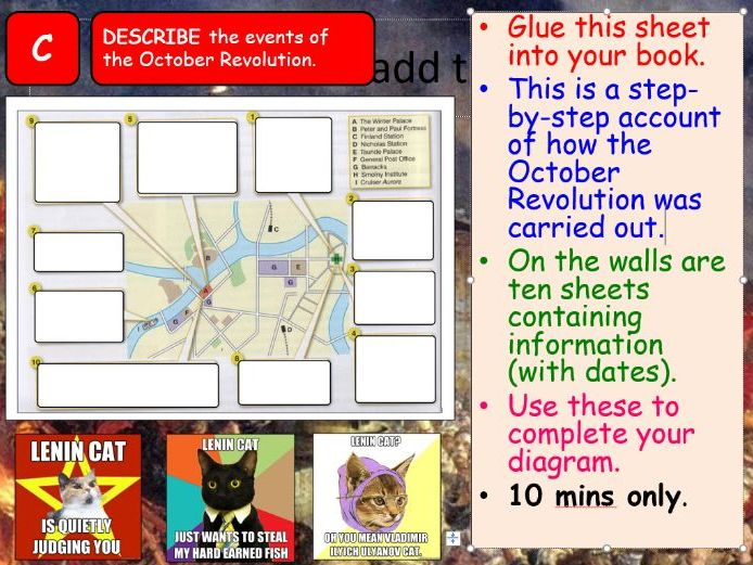 AQA A-Level Tsarist & Communist Russia Lesson 45 (October Revolution 1)