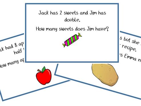 DOUBLING AND HALVING WORD PROBLEMS- Year 1