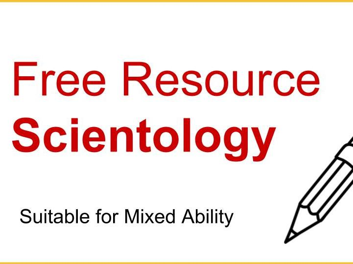 Free Scientology Worksheet