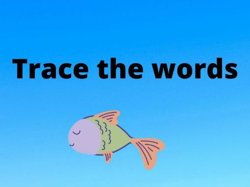 Trace the words