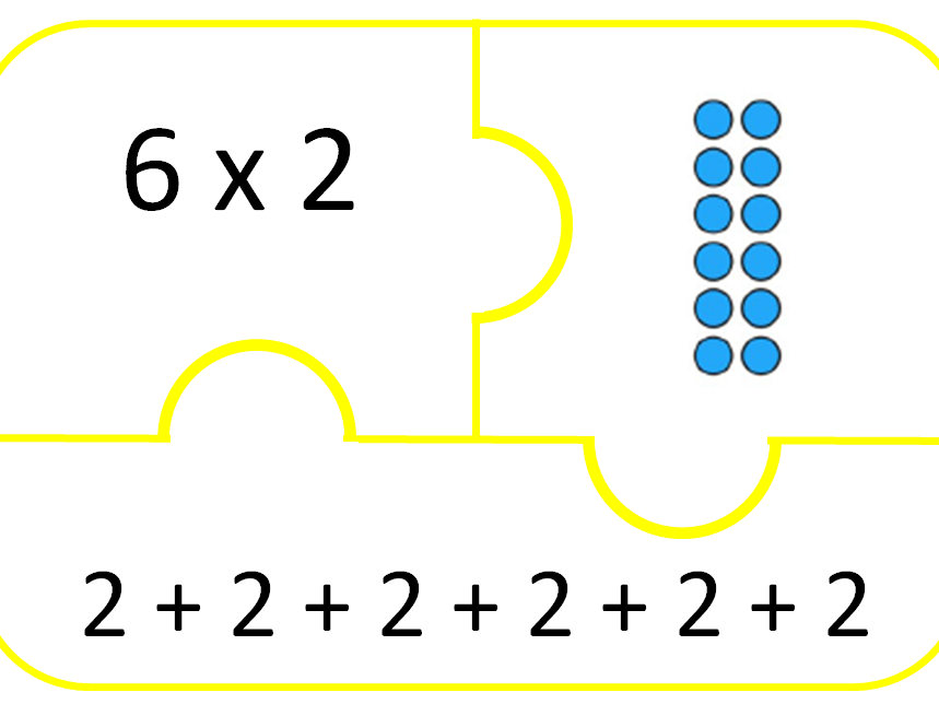 Repeated Addition and array matching puzzles