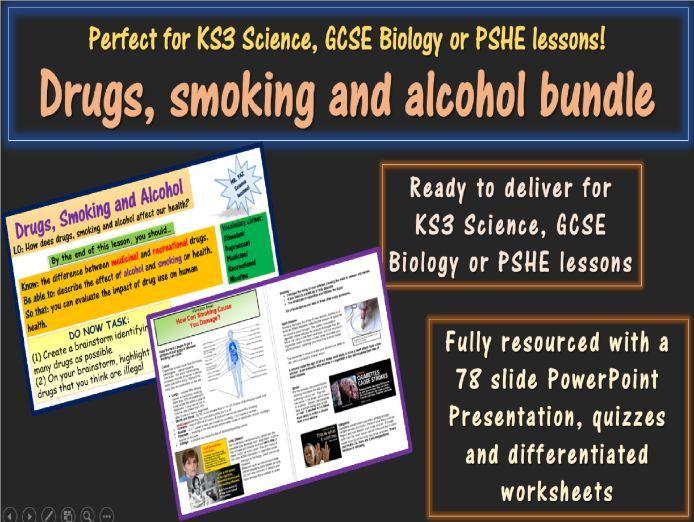 Drugs Smoking Alcohol Complete Unit KS3 Science PSHE