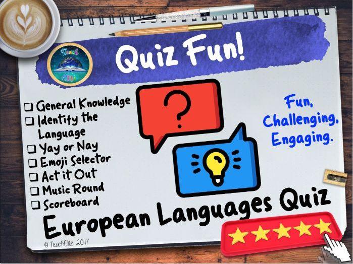 European Languages Quiz