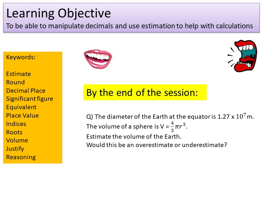 GCSE 1-9 Higher Estimation & Decimals Revision