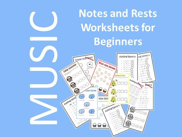 Notes and Rests Worksheets for Beginners