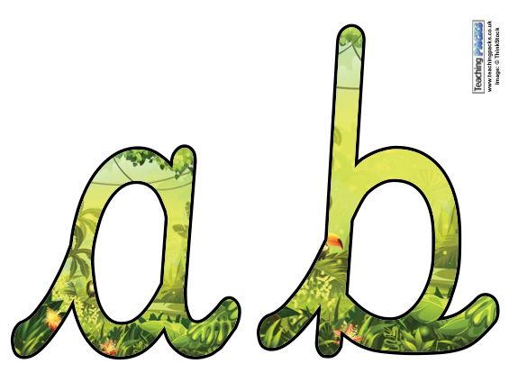Rainforests - Cursive Display Letters
