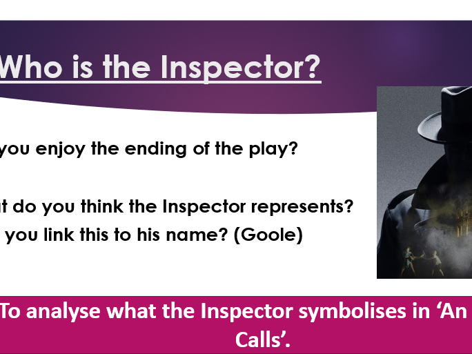 Scheme of work for 'An Inspector Calls'