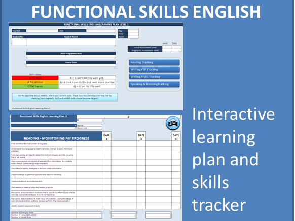 Functional Skills English L1 Skills Tracker and Learning Plan (OLD SPEC)