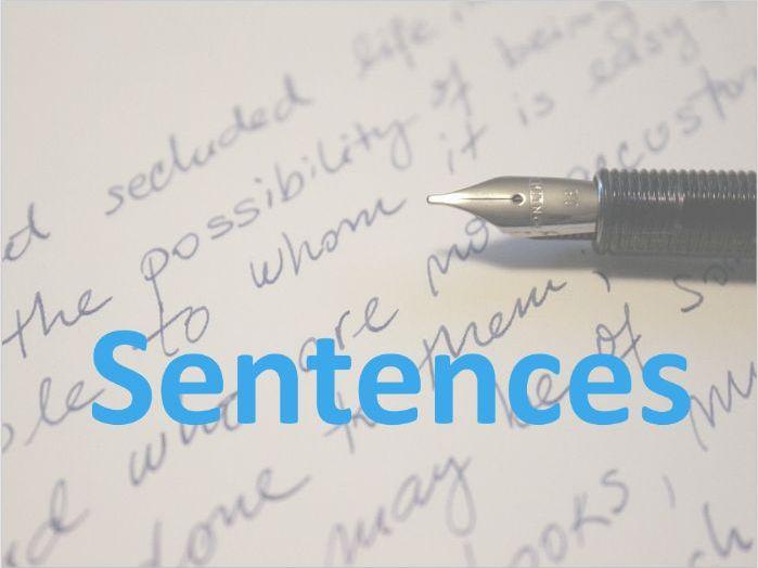Grammar - sentence introduction