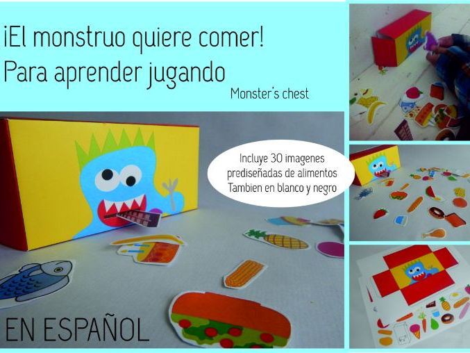 SPANISH GAME. THE MONSTER WANTS TO EAT.