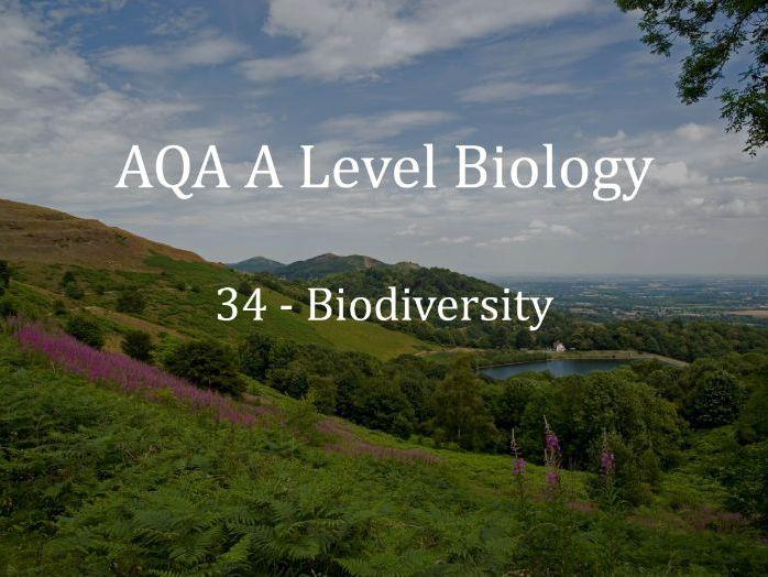 AQA A Level Biology Lecture 34 - Biodiversity
