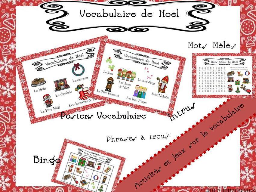 French Christmas Vocabulary - Games - Jeux de Noël KS3/4
