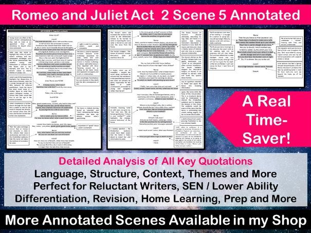 Romeo and Juliet Act 2 Scene 5 Annotated