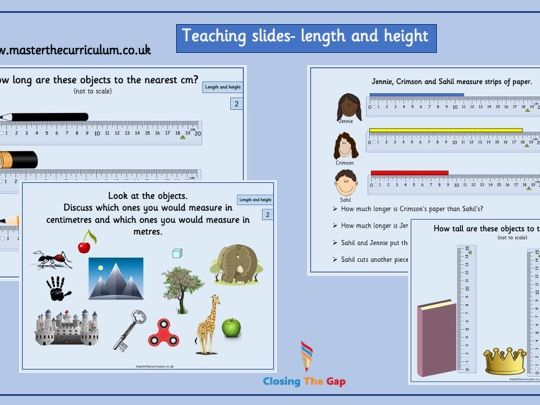 Year 2- length and height - White Rose teaching slides