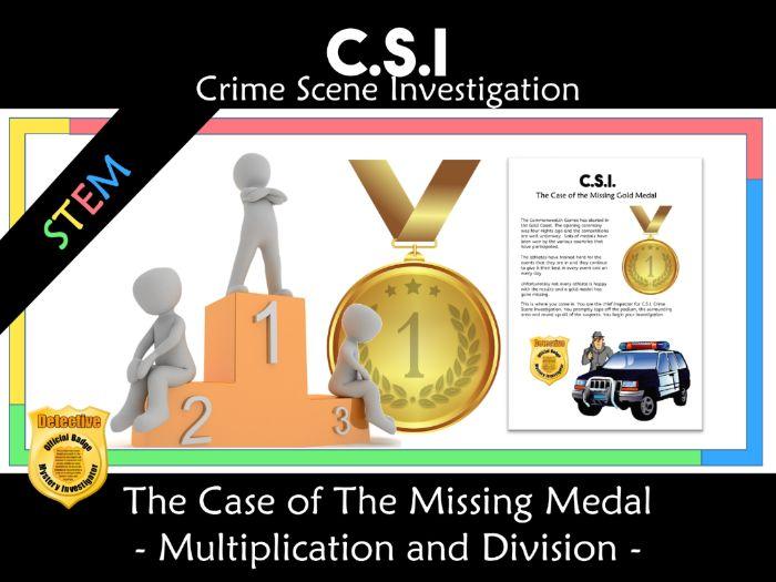 CSI: Math Murder Mystery - The Missing Gold Medal - Mult/Div