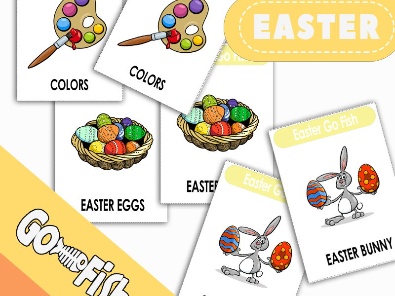 Easter Go Fish Card Game (have/have got)