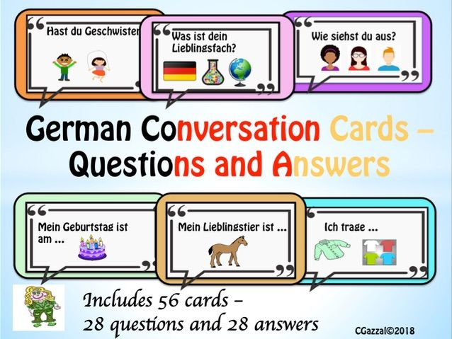 German – Conversation Cards – Questions and Answers.
