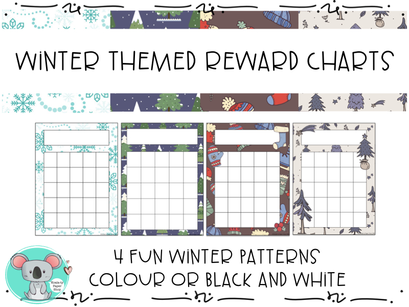 Reward Charts - Winter Themed