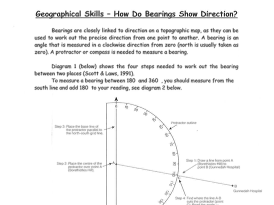 how do bearings show direction worksheet by humanitiesbox teaching resources tes. Black Bedroom Furniture Sets. Home Design Ideas