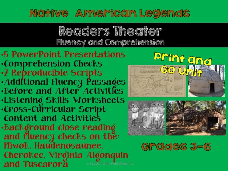 Native American Readers Theater: 7 Scripts and a Whole Unit of Activities PLUS 5 PowerPoints - CCSS