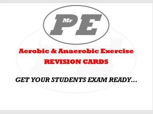 FLASHCARDS Aerobic & Anaerobic Exercise